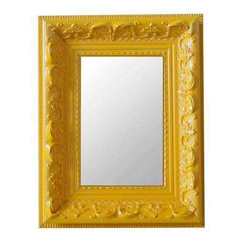 Espelho Moldura Rococó Raso 16132 Amarelo Art Shop