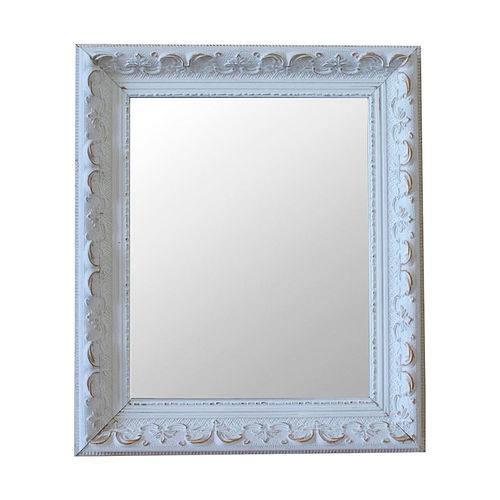 Espelho Moldura Rococó Raso 16169 Branco Patina Art Shop