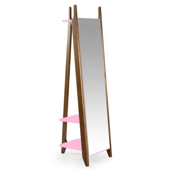 Espelho Stoka na Cor Rosa Claro