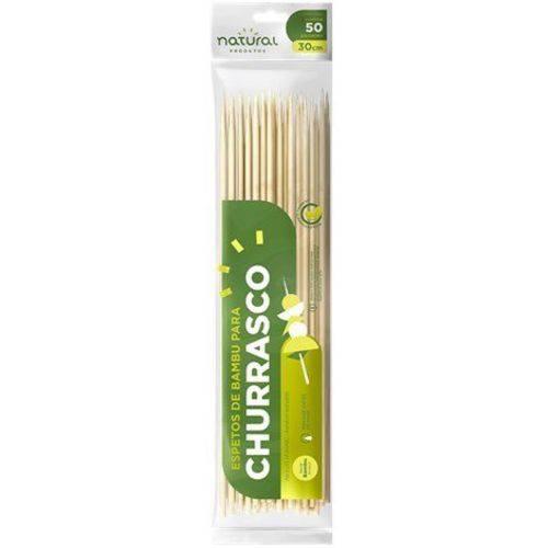 Espeto de Bambu 30cm 50un Natural