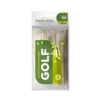 Espeto de Bambu Golf 15cm C/50 Un Natural
