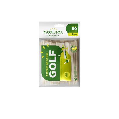 Espeto de Bambu Golf 9cm C/50 Un Natural