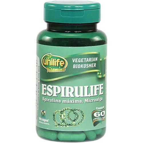 Espirulife 60 Cápsulas 500mg Spirulina - Unilife