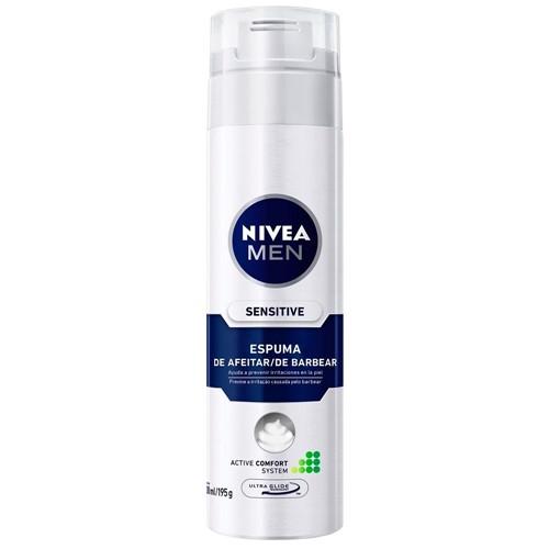 Espuma de Barbear Nivea 195g For Men Sensitive
