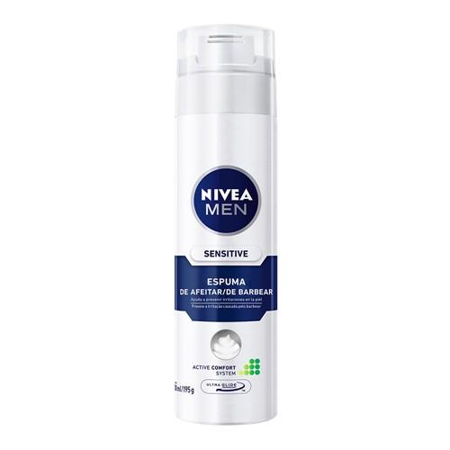 Espuma de Barbear Nivea For Men Sensitive Ultra Glide 200ml/193g