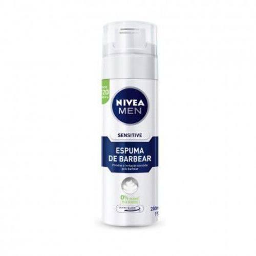 Espuma de Barbear Nivea Men Sensitive Ultra Glide 200ml/193g