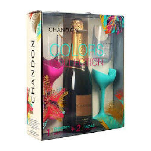 Espumante Chandon Brut 750 Ml com 02 Taças
