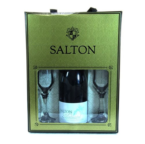 Espumante Salton 750ml+2 Tacas Moscatel