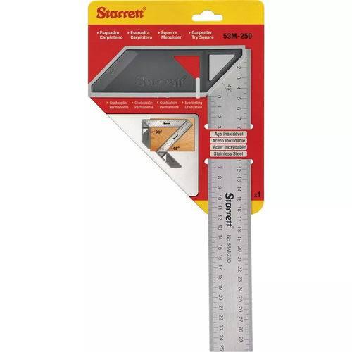 Esquadro de Aço P/ Carpinteiro 250mm Starrett-k53m250s