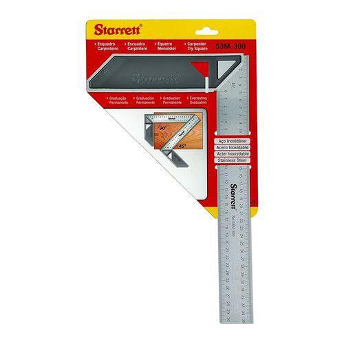 """Esquadro em Aço para Carpinteiro 12"""" Starrett - K53m300s"""