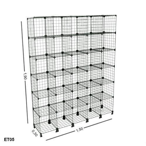 Estante Aramada 30 Nichos - 1,50 X 1,90 X 0,30