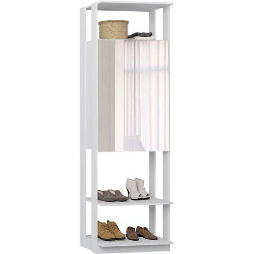 Estante Armário C/ Espelho Clothes – Be Mobiliário - Branco