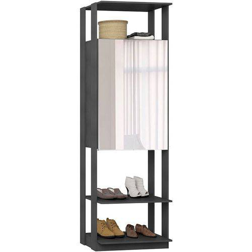 Estante Armário C/ Espelho Clothes – Be Mobiliário - Espresso