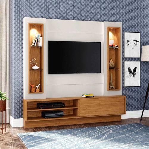 Estante Home para Tv Até 42 Polegadas 1 Porta de Correr e Led Off White/frejo