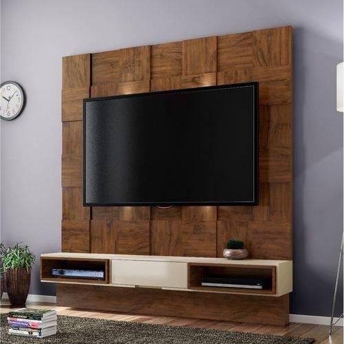 Estante Home para TV Até 40 Polegadas Quadriculado LED TB125L Dalla Costa Nobre/Off White