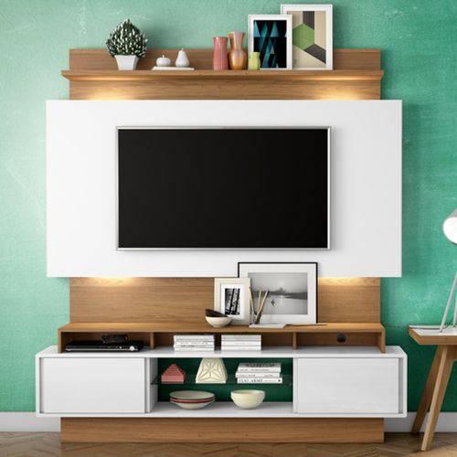 Estante Home para Tv Até 55 Polegadas 2 Portas Led Tb112l Dalla Costa Off White/freijó
