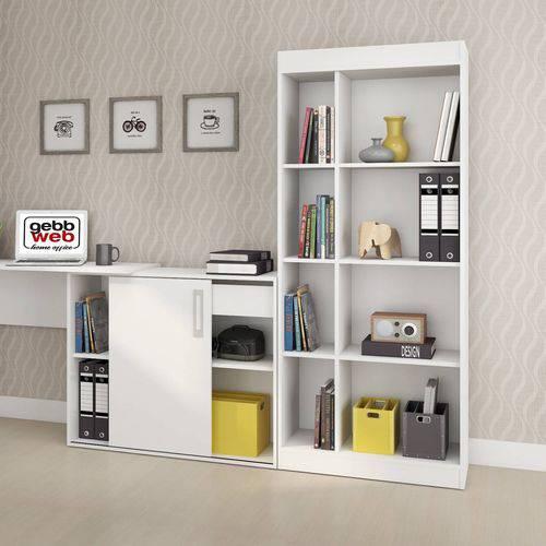 Estante para Livros 6 Prateleiras Treviso Gebb Work Branco