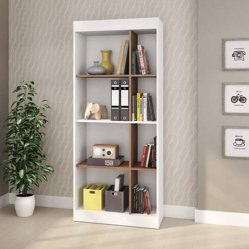 Estante para Livros 6 Prateleiras Treviso Moderno Gebb Work Auris/Branco