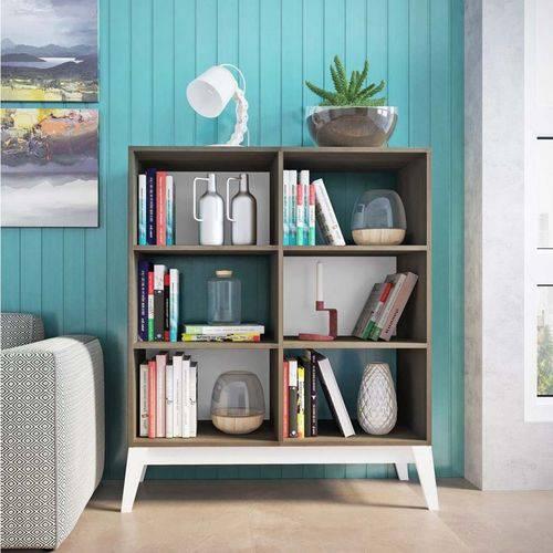 Estante para Livros Baixa 4 Prateleiras 0807 Retrô Genialflex Demolição