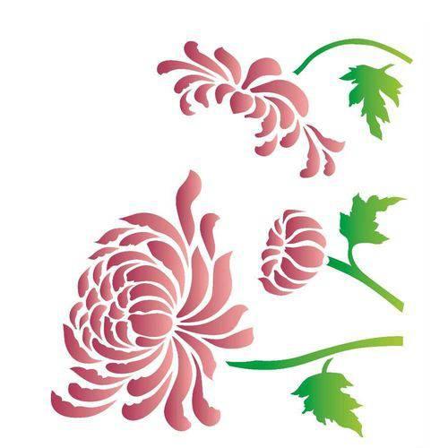 Estencil Opa Flor Crisantemo 2182 20x25cm