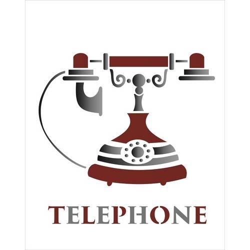 Estêncil para Pintura Simples 20x25 Telephone - Opa1785 - Opa