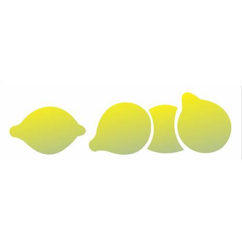 Estêncil para Pintura Simples 10x30 Fruta Limão Siciliano Opa1872 - Opa
