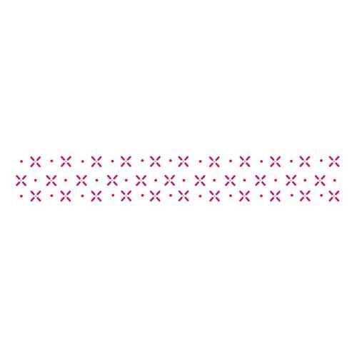Estêncil para Pintura Simples 4x30 Pontilhado V - Opa10411 - Opa