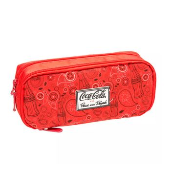 Estojo Coca-Cola Paisley Vermelho T Un