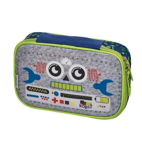 Estojo G C/divisoria Pack me Robot
