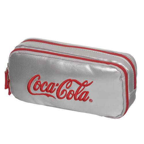 Estojo Duplo Coca Cola Silver