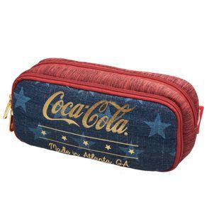 Estojo Duplo Coca Cola Stars - U