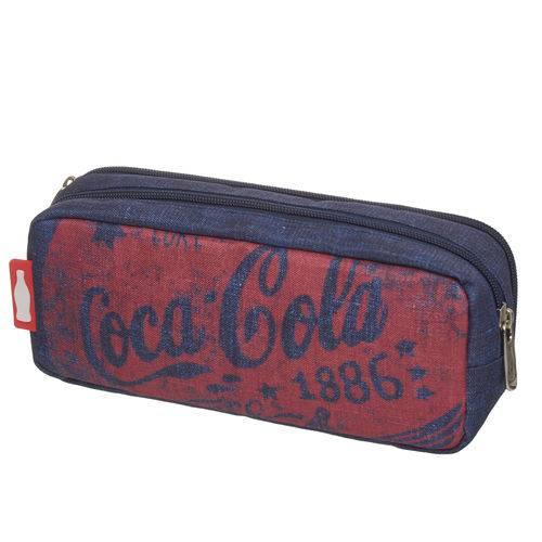 Estojo Duplo Coca Cola Stripes