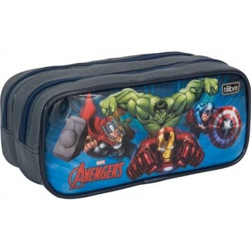 Estojo Duplo Grande Avengers - Tilibra