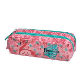 Estojo Duplo Simples Pack me Flamingo - U