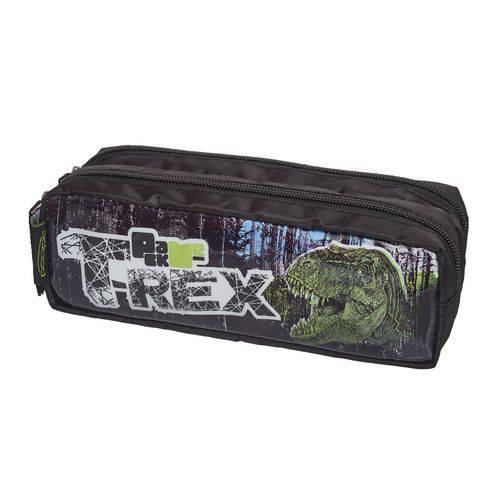 Estojo Duplo Simples Pack me T-rex - Pacific