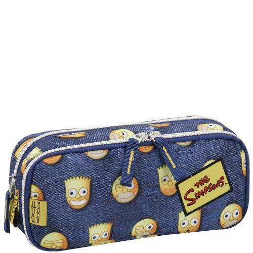 Estojo Duplo The Simpsons Emoticons 7402214 - Pacific