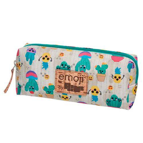 Estojo Emoji Pack me Cactus Bege - Pacific