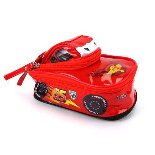 Estojo Escolar Carros Disney Relâmpago Mcqueen 3d Ref 60099 Dermiwil
