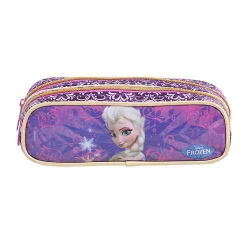 Estojo Escolar Duplo 60205/16 - Frozen Elsa - Dermiwil
