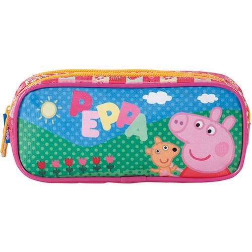 Estojo Escolar Duplo Peppa Pig Sunny Day - Xeryus