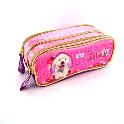 Estojo Escolar Jolie Pet Duplo Ref 84062014 Tilibra