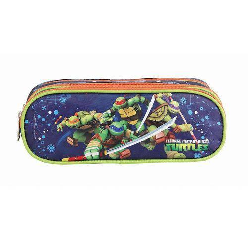 Estojo Escolar Tarturugas Ninja Soft Triplo Dmw - 11229