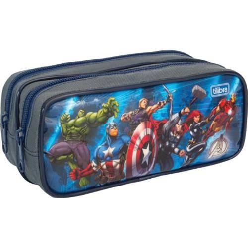 Estojo Escolar Tilibra Avengers Duplo 149179