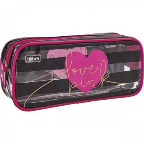 Estojo Grande Love Pink Tilibra