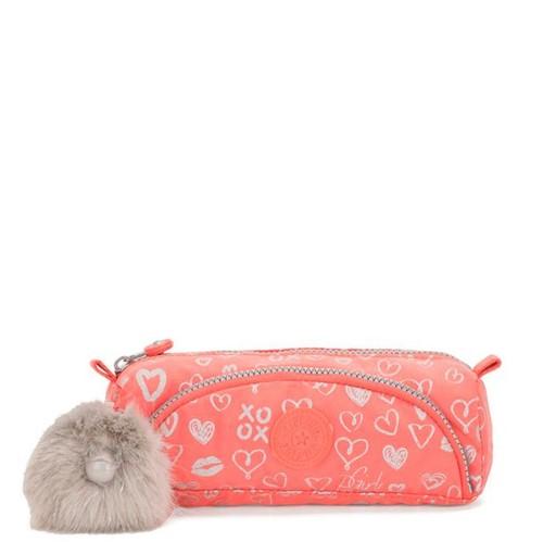 Estojo Kipling Cute Hearty Pink Met-Único