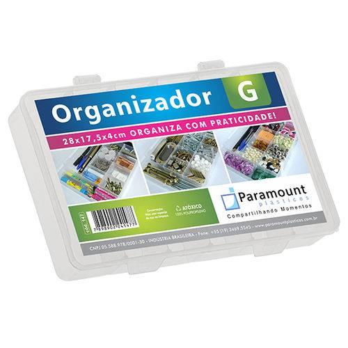 Estojo Organizador G com 11 Divisorias 28x17,5x4cm