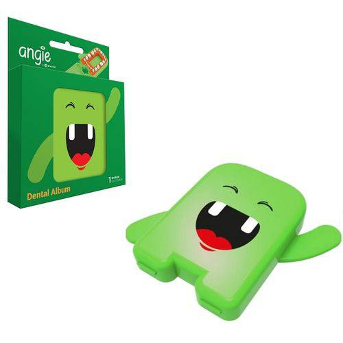 Estojo Porta Dente de Leite - Album Dental - Verde - Angie By Angelus