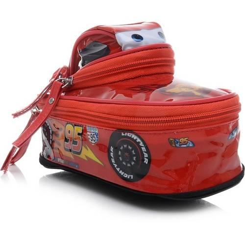 Estojo PVC Cars 3D Mcqueen 2Ziperes Dermiwil