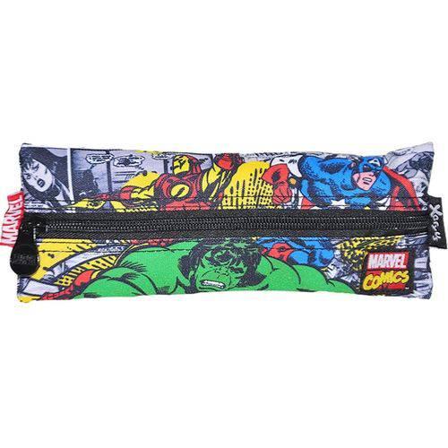 Estojo Simples Infantil Marvel Comics - Ref: 8101 - Xeryus
