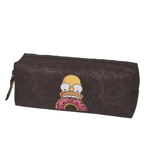 Estojo Simples Simpsons Donuts Preto 7403613 Pacific
